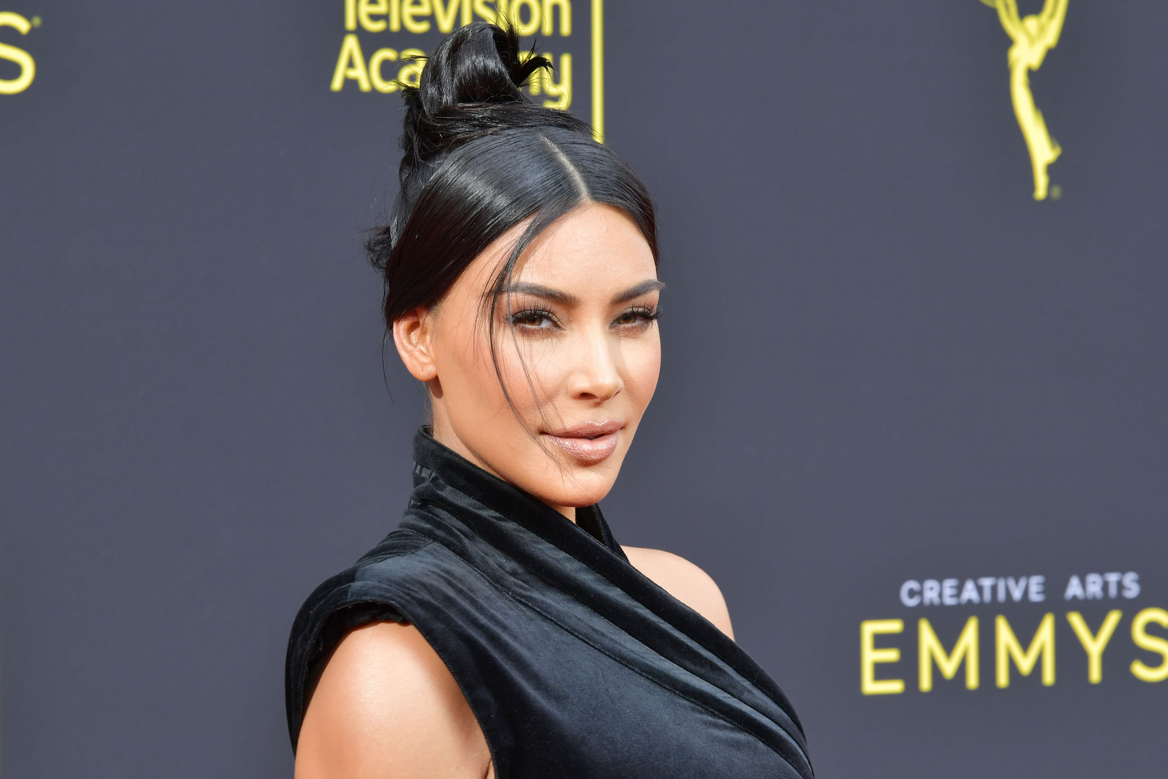Kim Kardashian at the Creative Arts Emmy Awards in 2019, in Los Angeles, California | Source: Getty Images