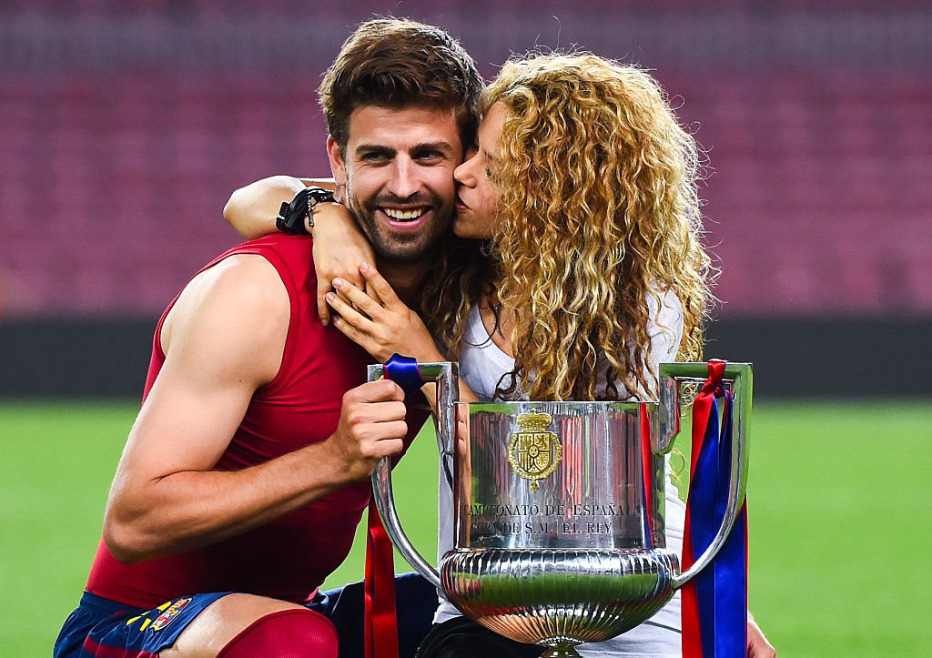 Gerard Piqué y Shakira en la final de la Copa del Rey 2015.| Fuente: Getty Images