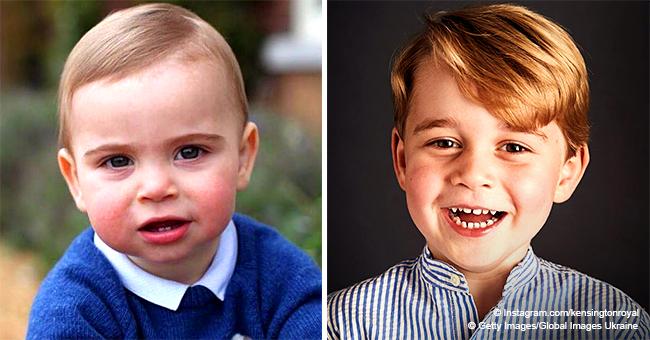 Le prince Louis ressemble trait pour trait à son frère George dans des photos d'anniversaire