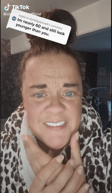 Clare Dudley slams trolls who make fun of her appearance. | Source: tiktok.com/claredudley_official