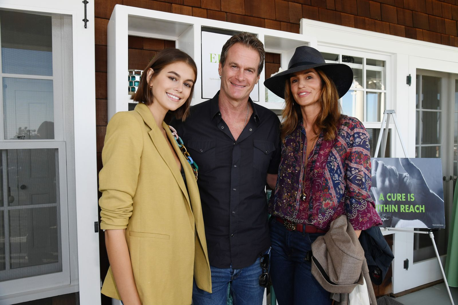 Kaia Gerber, Rande Gerber and Cindy Crawford attend ROCK4EB! at Private Residence on October 06, 2019 | Getty Images