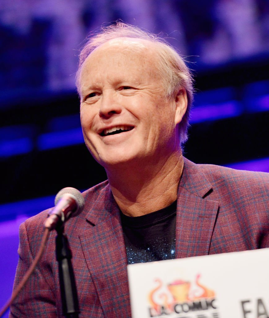 "Bill Fagerbakke speaks onstage during the ""SpongeBob Squarepants"" panel at 2019 Los Angeles Comic-Con at Los Angeles Convention Center in Los Angeles, California 