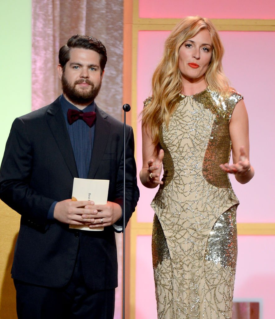 Jack Osbourne and Cat Deeley speak onstage during Broadcast Television Journalists Association's third annual Critics' Choice Television Awards | Getty Images