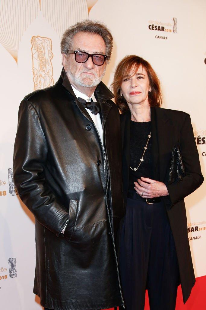 Eddy Mitchell et Muriel Bailleul arrivent à la salle Pleyel, mars 2018, Paris. Photo : Getty Images