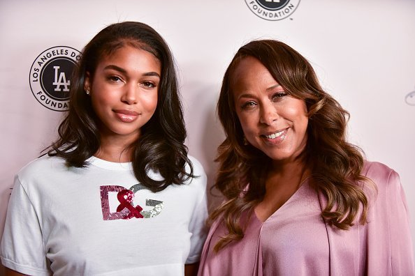 Lori Harvey and Marjorie Elaine Harvey at The Beverly Hilton Hotel on May 11, 2019 | Photo: Getty Images