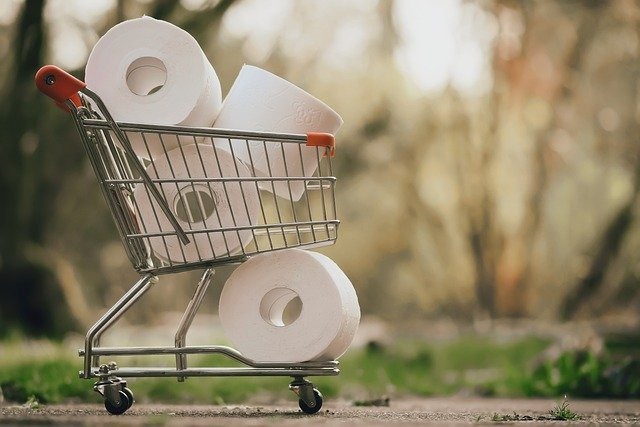 Cart full of toilet paper | Photo: Pixabay