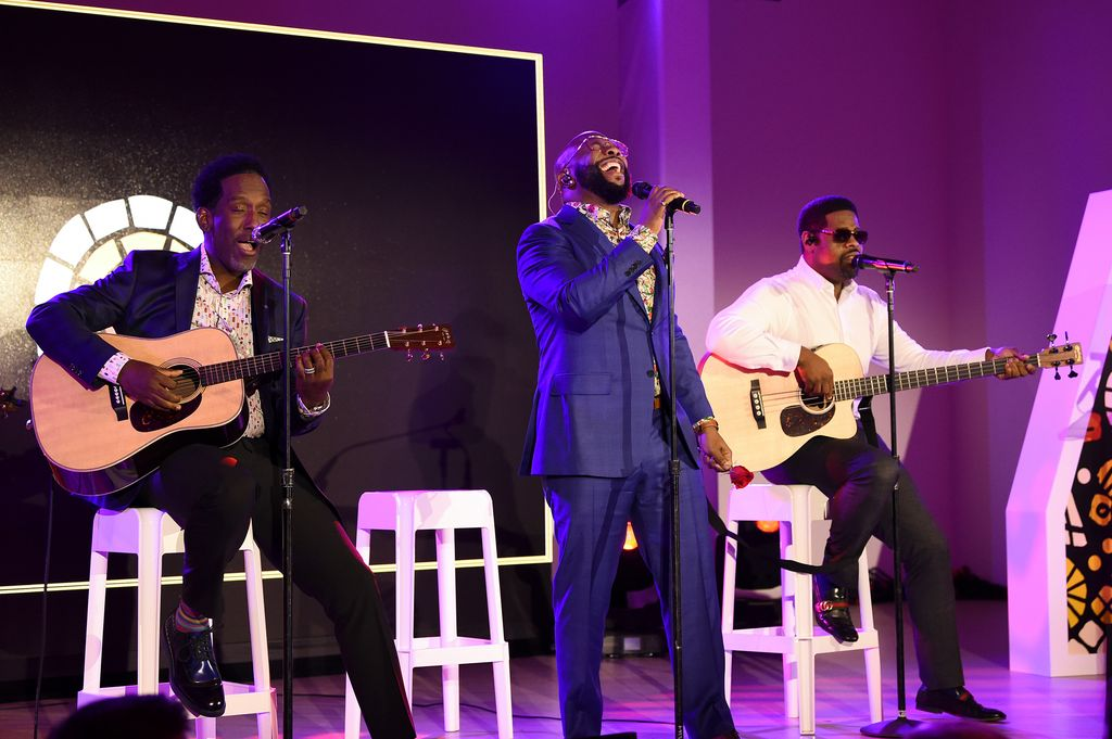 Boyz II Men perform onstage during The Charlize Theron Africa Outreach Project fundraising event at The Africa Center on November 12, 2019 in New York City.  | Source: Getty Images