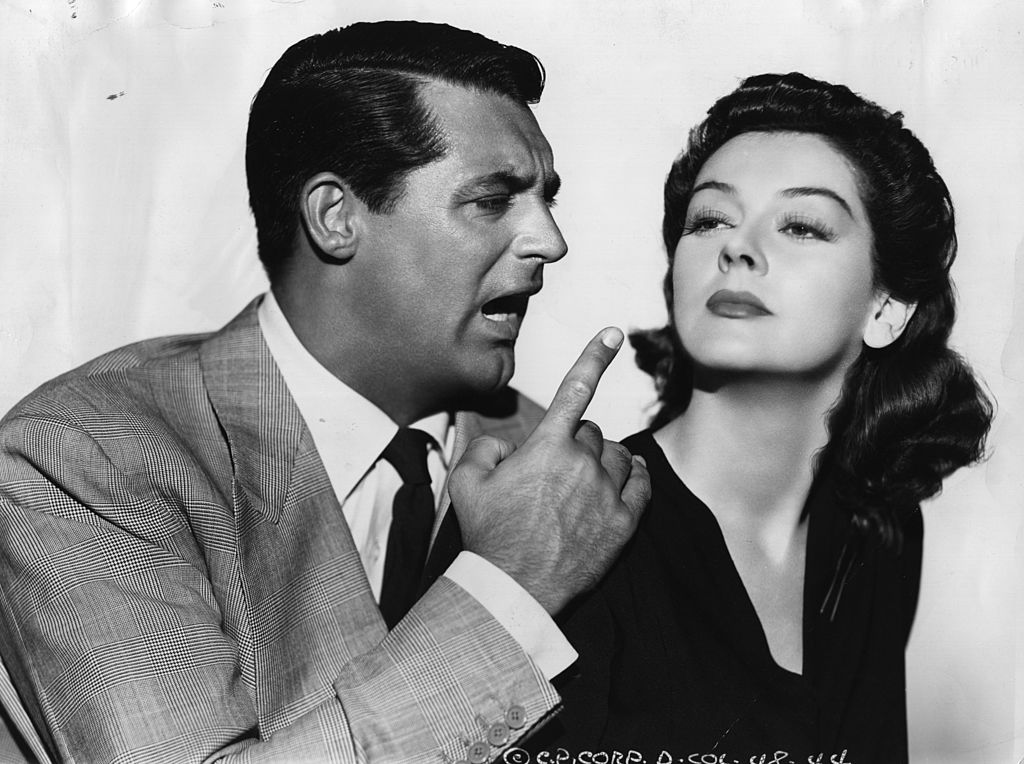 "Cary Grant und Rosalind Russell spielen die Hauptrolle in der Columbia-Farce ""His Girl Friday"". (Foto von Hulton Archive) I Quelle: Getty Images"