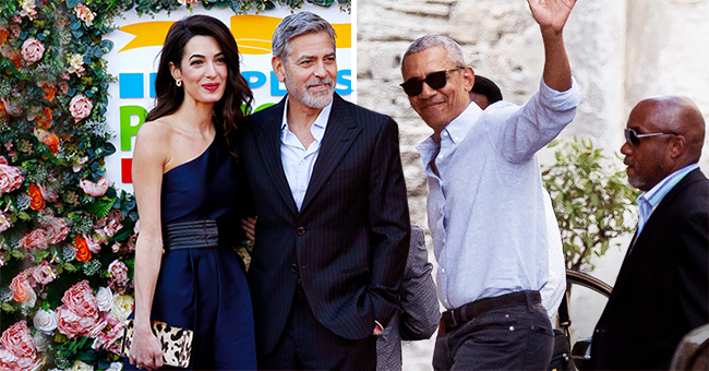 Barack and Michelle Obama Join George and Amal Clooney on a Boat during Their European Holiday