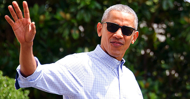 Barack Obama Shows off His Swag as He Steps out in a Classic Black Suit & Sunglasses for Lunch in NY