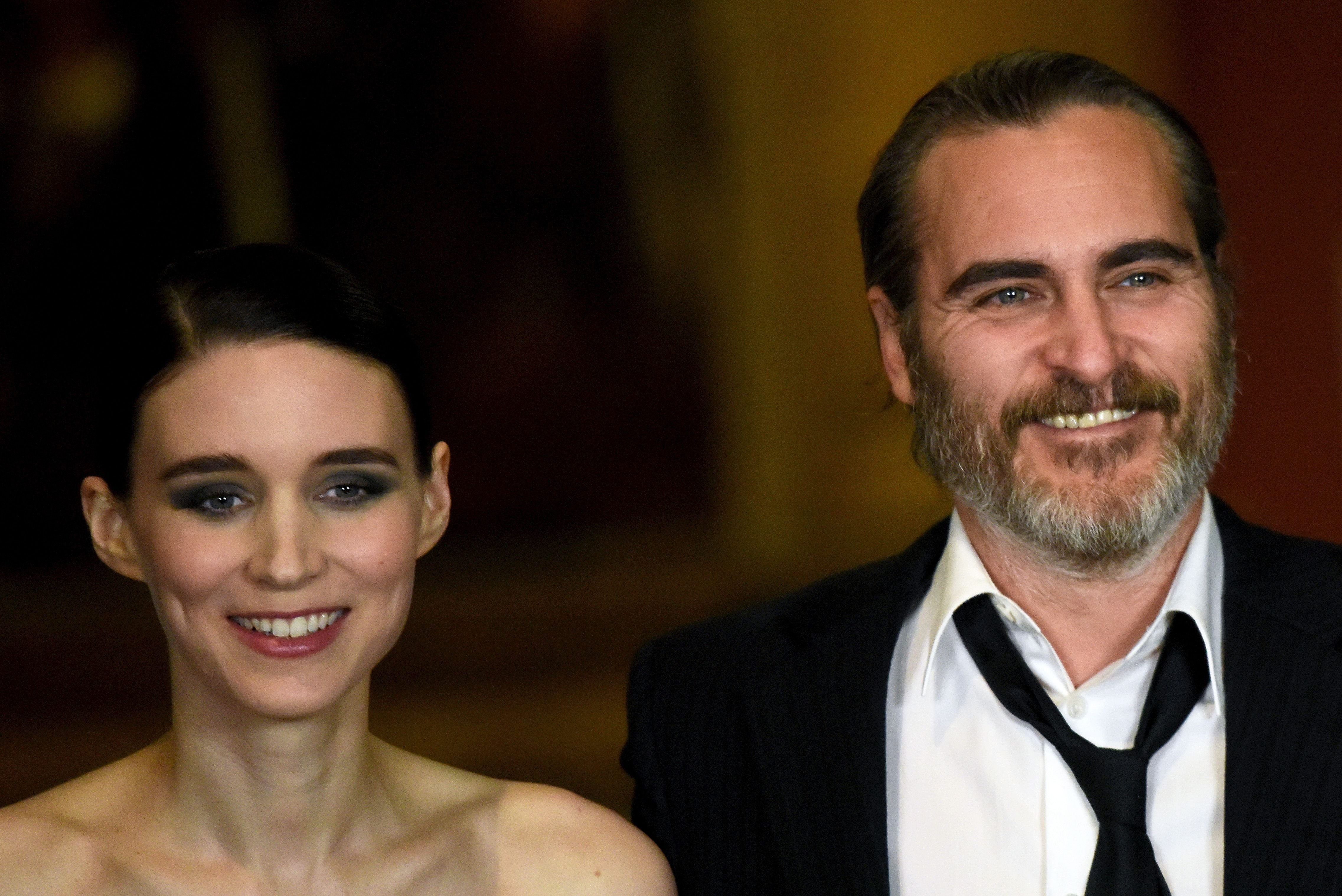 Rooney Mara and Joaquin Phoenix at the 'Mary Magdalene' special screening held at The National Gallery on February 26, 2018 in London, England. | Photo: Getty Images