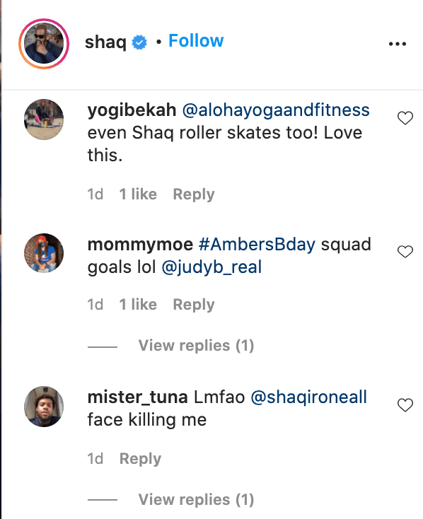 Screenshots of fan comments on Shaquille O'Neal's video. | Source: Instagram/shaq