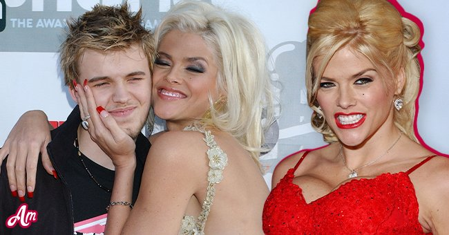 """Anna Nicole Smith with her son Daniel. Inset: Anna Nicole Smith during """"Be Cool"""" Los Angeles Premiere - Arrivals at Grauman's Chinese Theater in Hollywood, California, United States. 