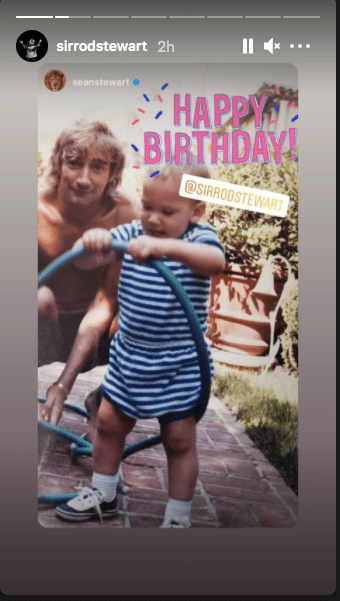 Rod Stewart's son Sean, wishes him a happy 76th birthday, on January 10, 2020. | Source: Instagram/sirrodstewart.