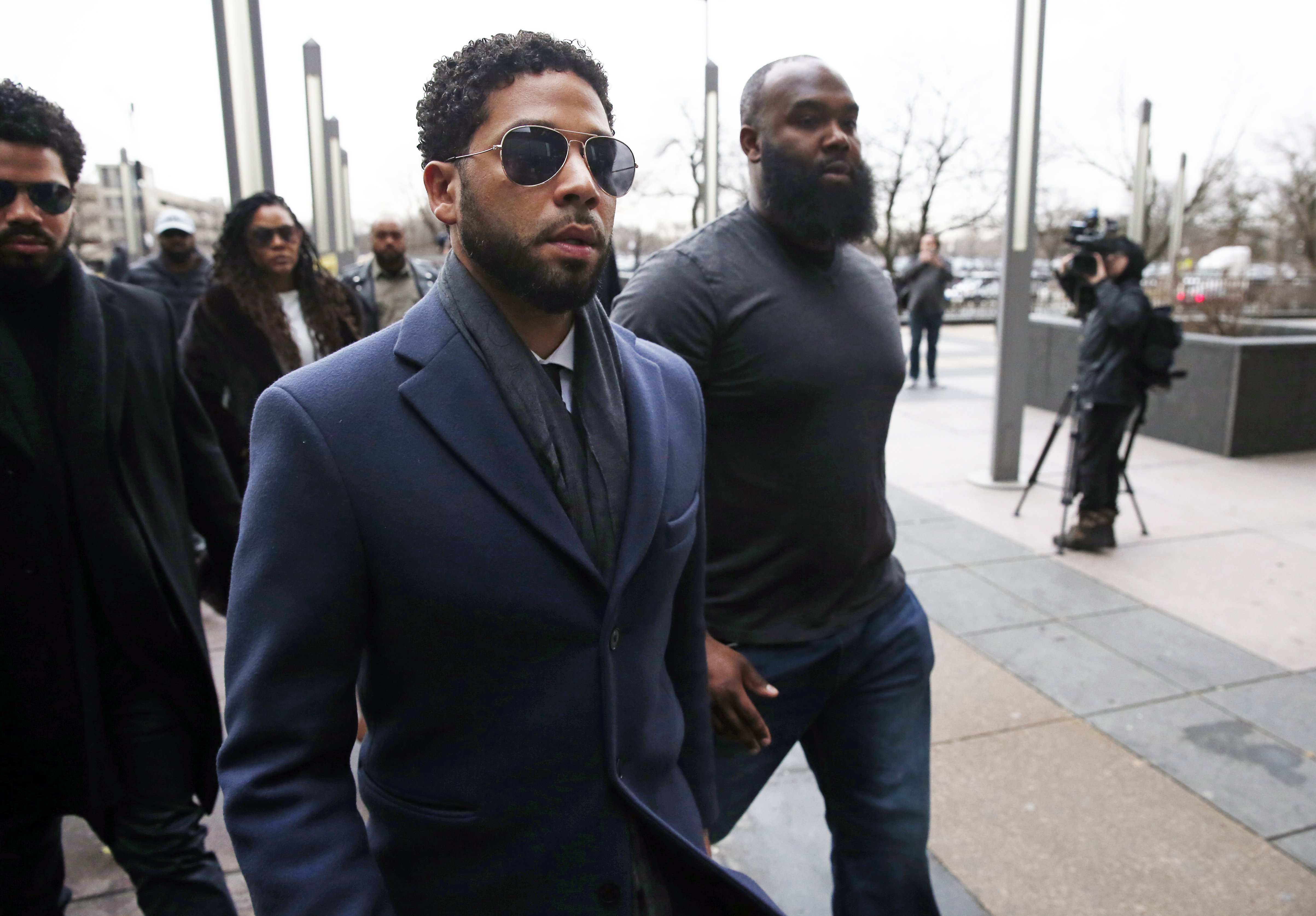 ussie Smollett arrives at Leighton Criminal Courthouse on March 14, 2019 in Chicago. | Photo: GettyImages/Global Images of Ukraine