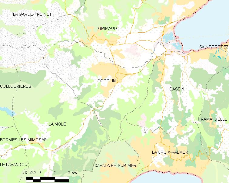 Carte des communes françaises Cogolin. | Wikimedia Commons