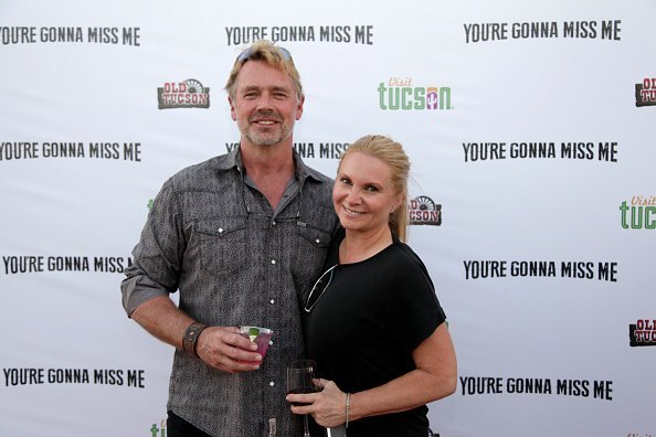 "John Schneider and Alicia Allain at ""You're Gonna Miss Me"" premiere in Tucson, Arizona.