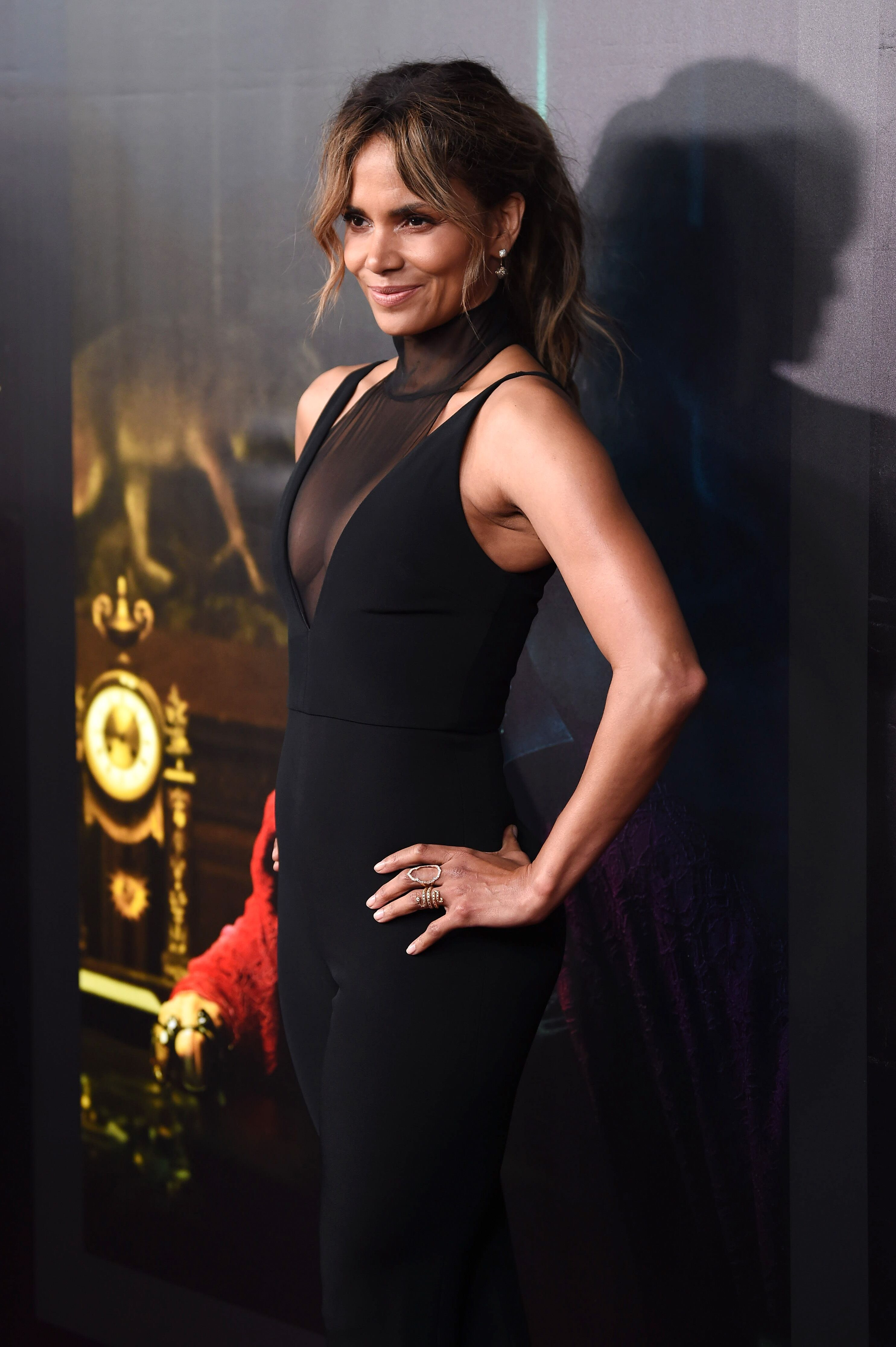 "Halle Berry attends the ""John Wick: Chapter 3"" world premiere. 