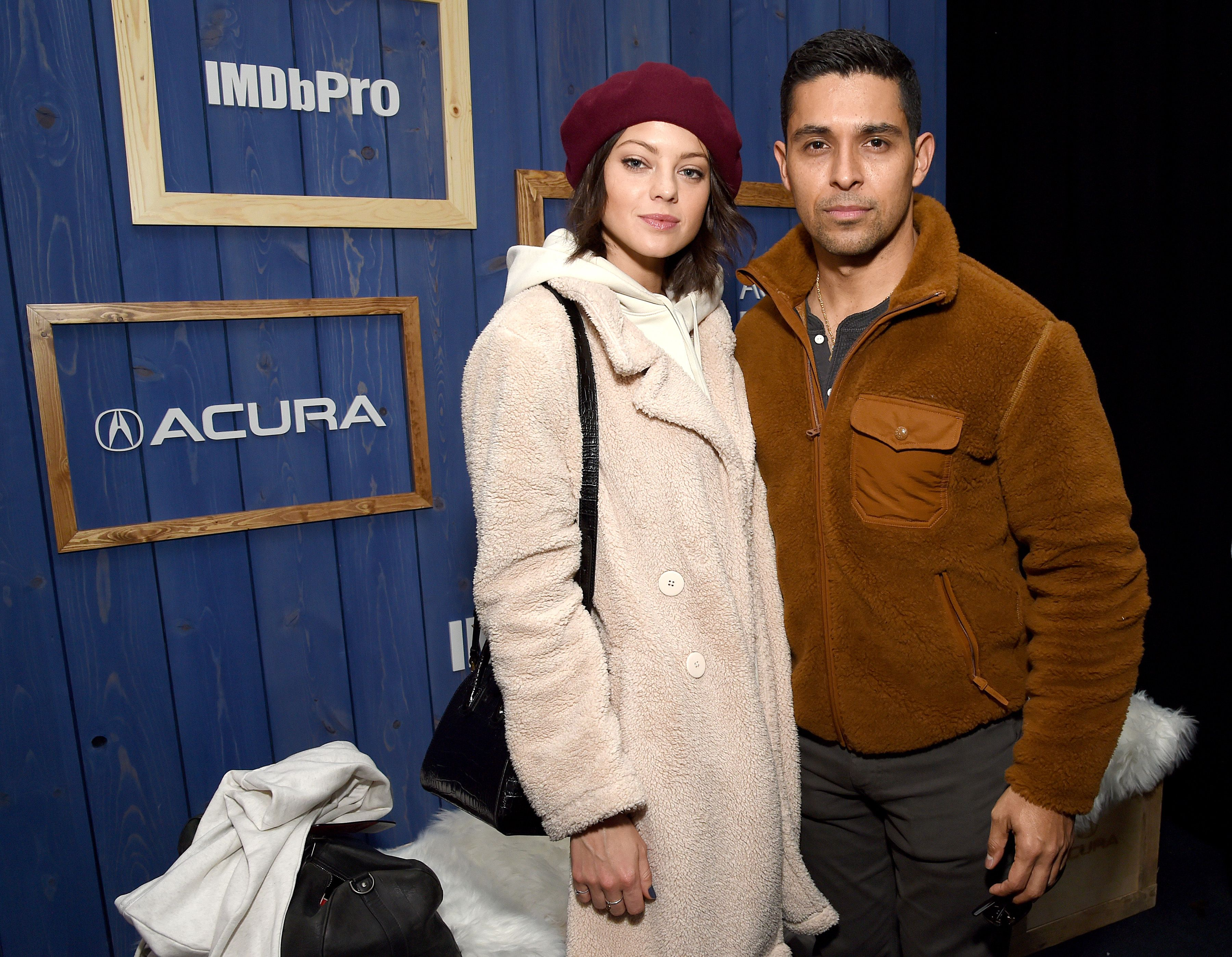 Amanda Pacheco and Wilmer Valderrama at the IMDb Studio at Acura Festival Village on January 26, 2020 | Photo: Getty Images