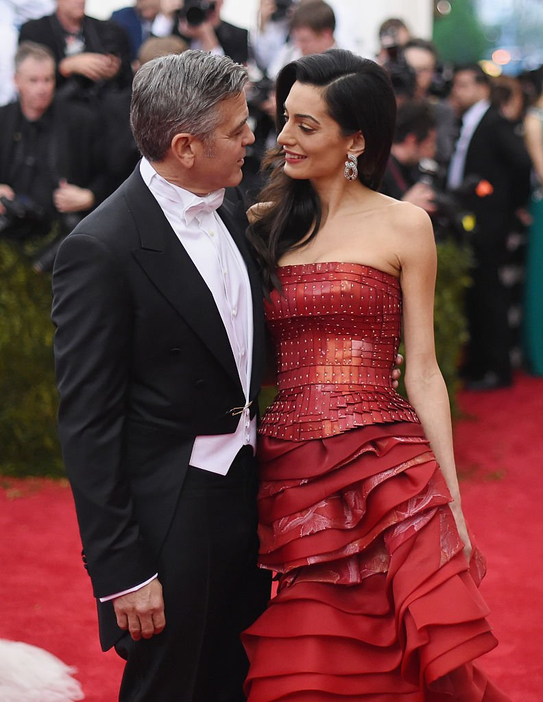"""Amal and George Clooney pictured the """"China: Through The Looking Glass"""" Costume Institute Benefit Gala, 2015, New York City. 