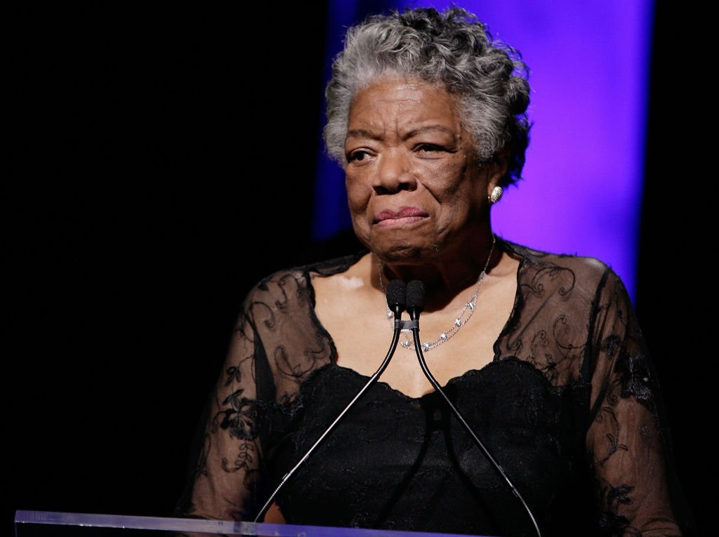 Dr. Maya Angelou on stage during the 33rd Annual American Women In Radio & Television Gracie Allen Awards at the Marriott Marquis on May 28, 2008. | Photo: Getty Images