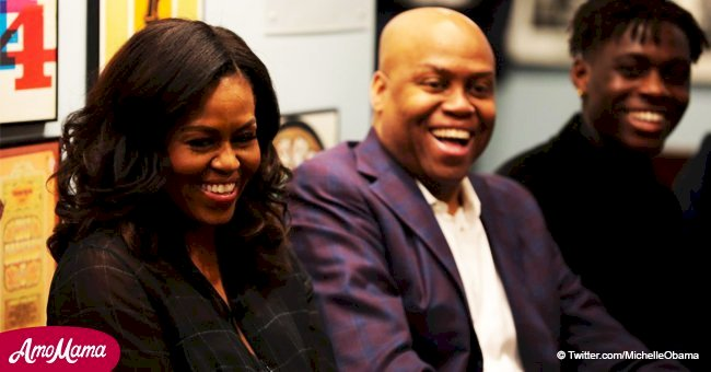 Michelle Obama genuinely amazes students at the Motown Museum while on her tour book