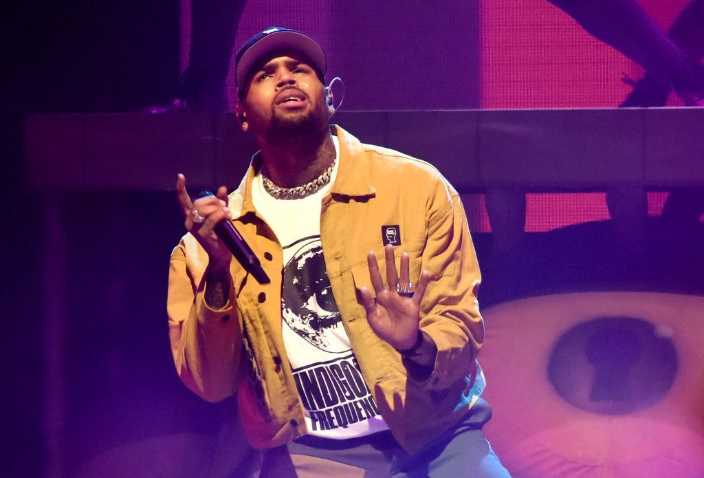 "Chris Brown performs in support of his ""Indigoat"" tour at Oakland Arena 
