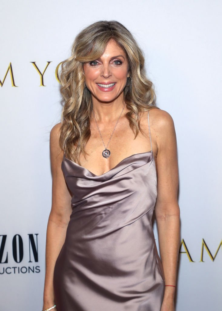 "Marla Maples poses on the red carpet at the New York premiere of ""I Am You"" at Pier 59 Studios on February 06, 2020, New York City 