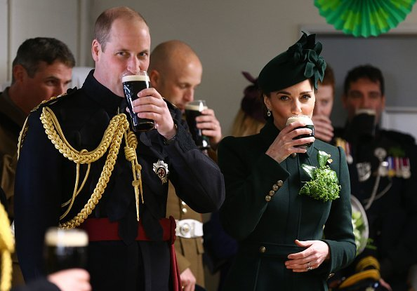 The  Duke and Duchess of Cambridge attend the St Patrick's Day parade at Cavalry Barracks in Hounslow on March 17, 2019, in Hounslow, England. | Source: Getty Images.
