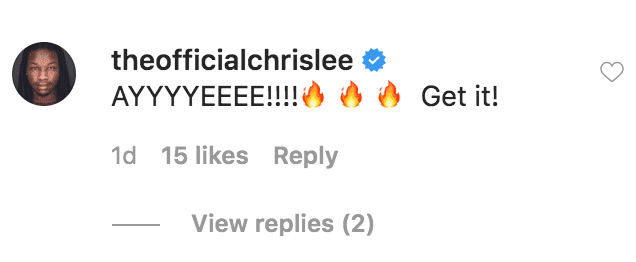 Chris Lee comments on a video of Wayne Brady singing along with his daughter, Maile Brady to one of his songs | Source: instagram.com/mrbradybaby
