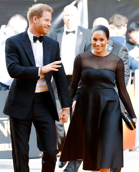Prince Harry and Meghan at Leicester Square on July 14, 2019 in London, England | Photo: Getty Images