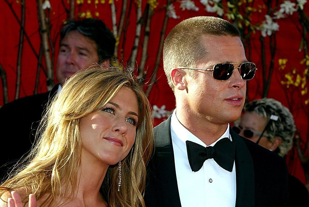 Jennifer Aniston and Brad Pitt at the 56th Annual Primetime Emmy Awards | Photo: Getty Images
