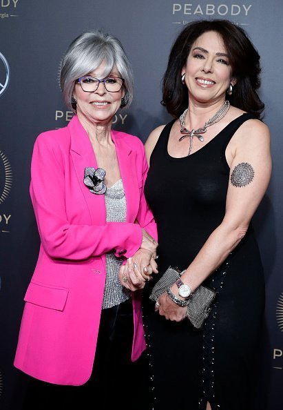 Rita Moreno and Fernanda Fisher attend the 78th Annual Peabody Awards at Cipriani Wall Street on May 18, 2019 in New York City | Photo: Getty Images