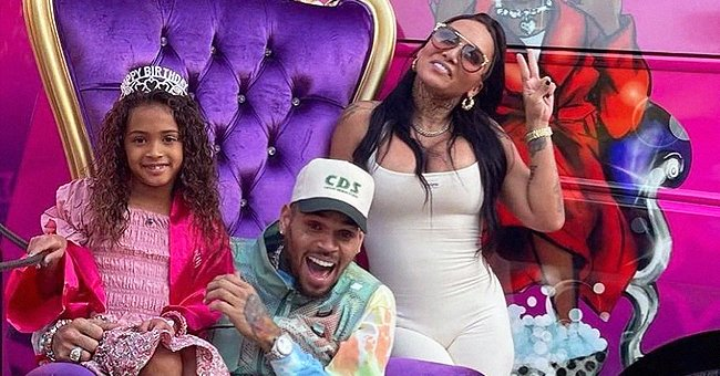 Chris Brown & Daughter Royalty Show Their Likeness as They Pose Together During Her Birthday Party