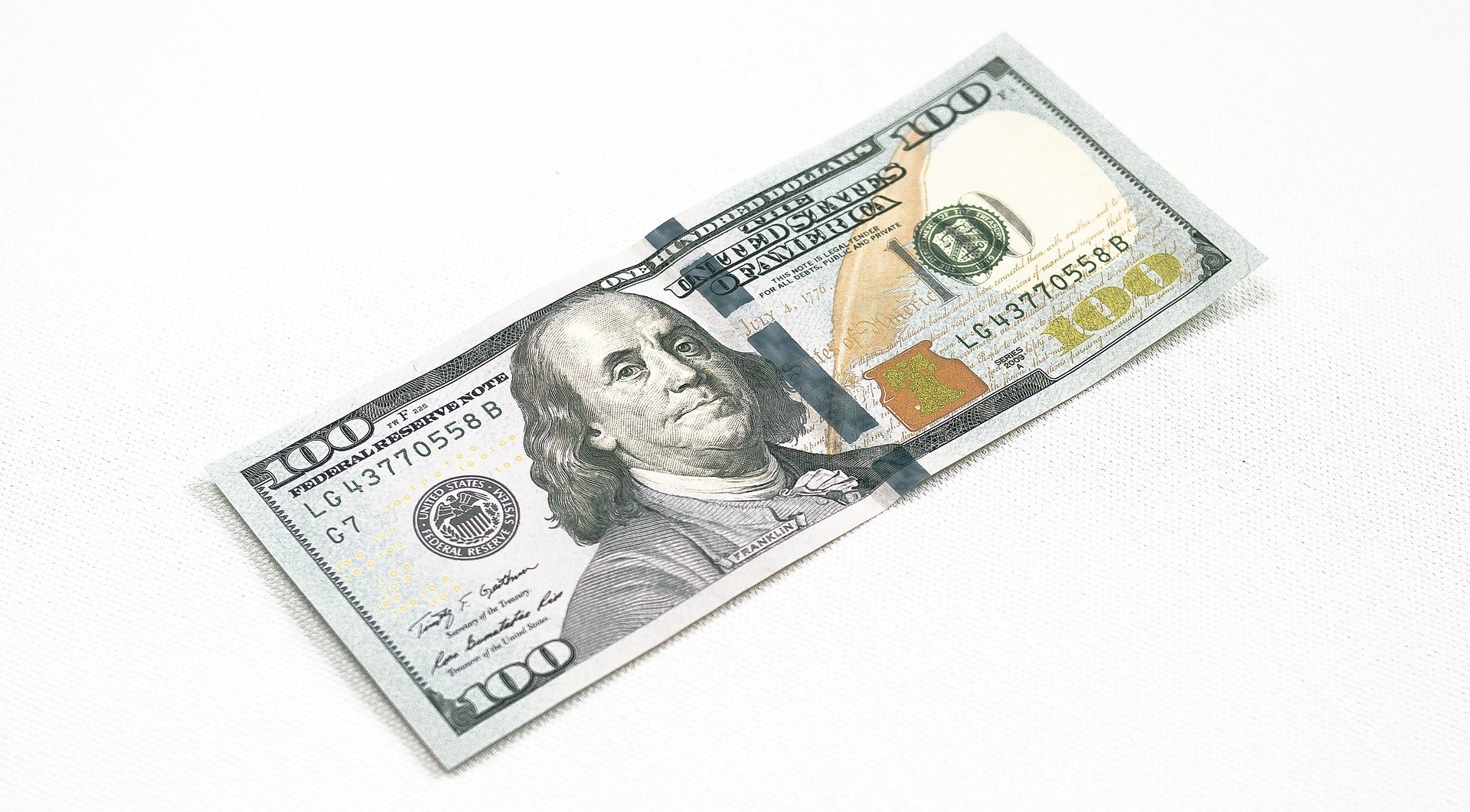 Pictured - A $100 dollar note   Source: Pixabay