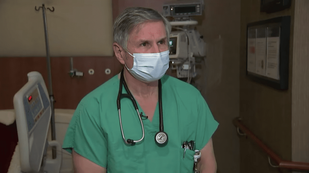 Dr. Jeffrey Huml during an interview.   Photo: YouTube/ABC 7 Chicago