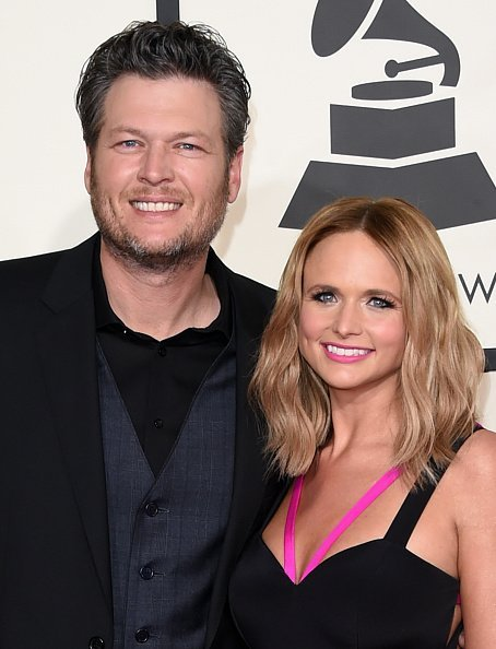 Blake Shelton and Miranda Lambert at the STAPLES Center on February 8, 2015 in Los Angeles, California | Photo: Getty Images