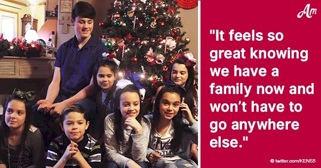 Couple adopts seven siblings to give them a forever-home right before Christmas