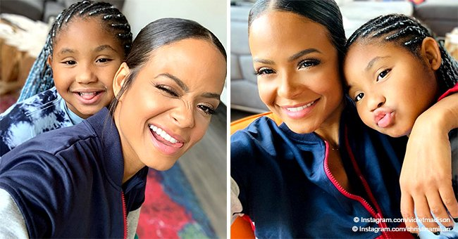 Christina Milian's daughter flaunts her blue braids in selfie with mom, showing their resemblance