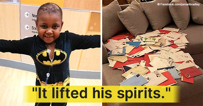 Boy, 6, was feeling low after cancer diagnosis, gets hundreds of Christmas cards from strangers