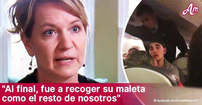 Héroe salva a madre que convulsiona luego que avión despega mientras hijo mira con impotencia