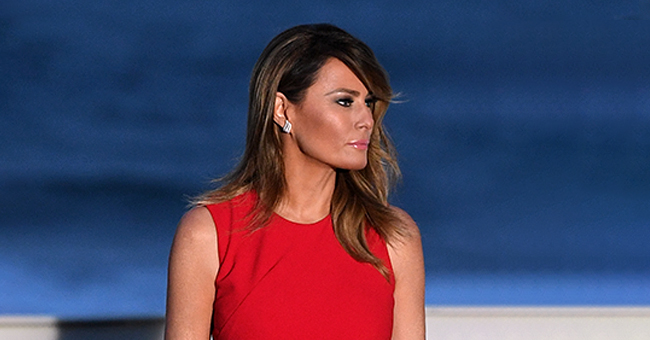Melania Trump Is a Fashion Icon in Gorgeous Sleeveless Red Dress Paired with Stilettos