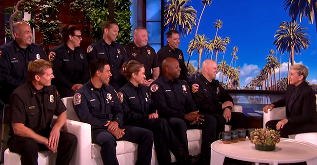 Ellen DeGeneres Meets Some of the Firefighters Who Saved Her Home & Others during California Fires