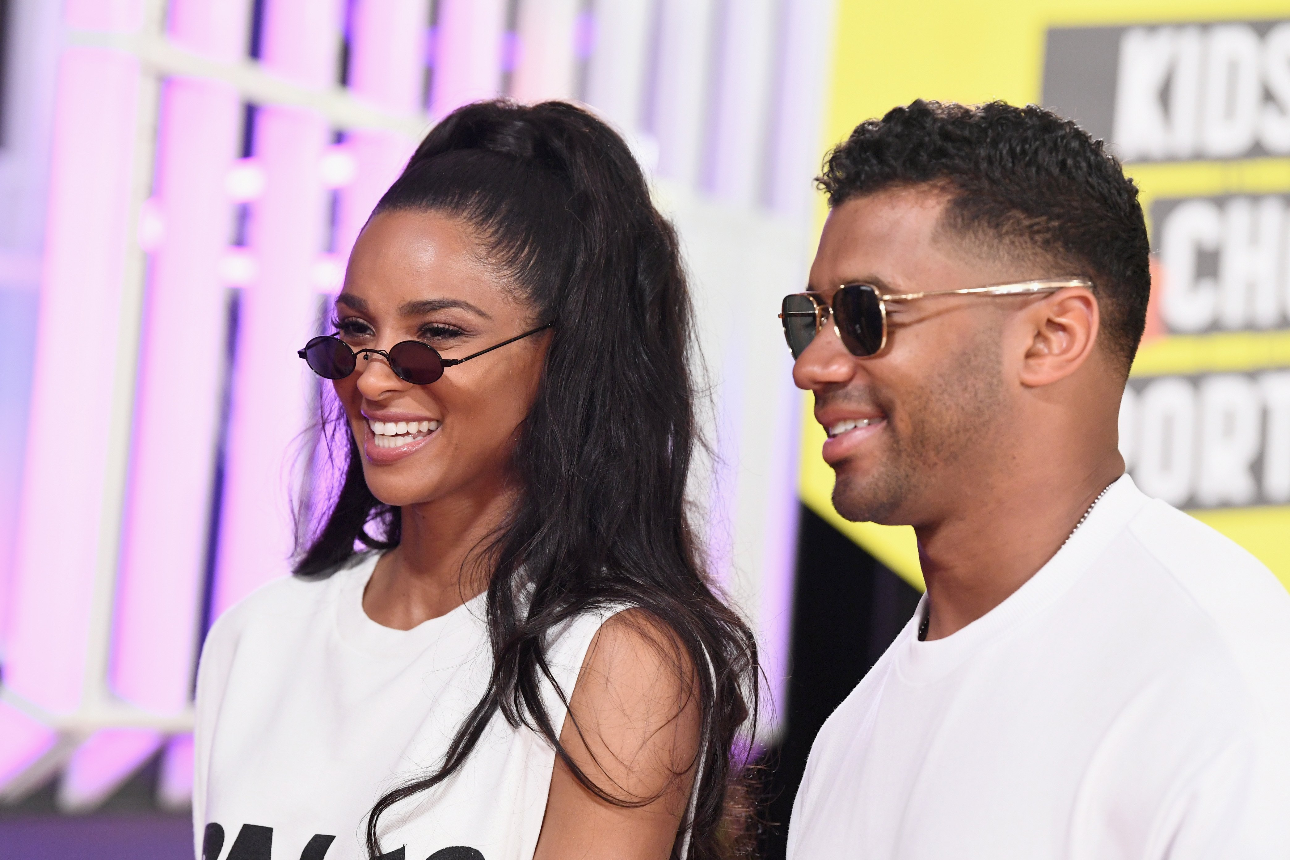 Ciara and Russell Wilson at the Nickelodeon Kids' Choice Sports 2018 at Barker Hangar on July 19, 2018 in Santa Monica, California | Photo: Getty Images