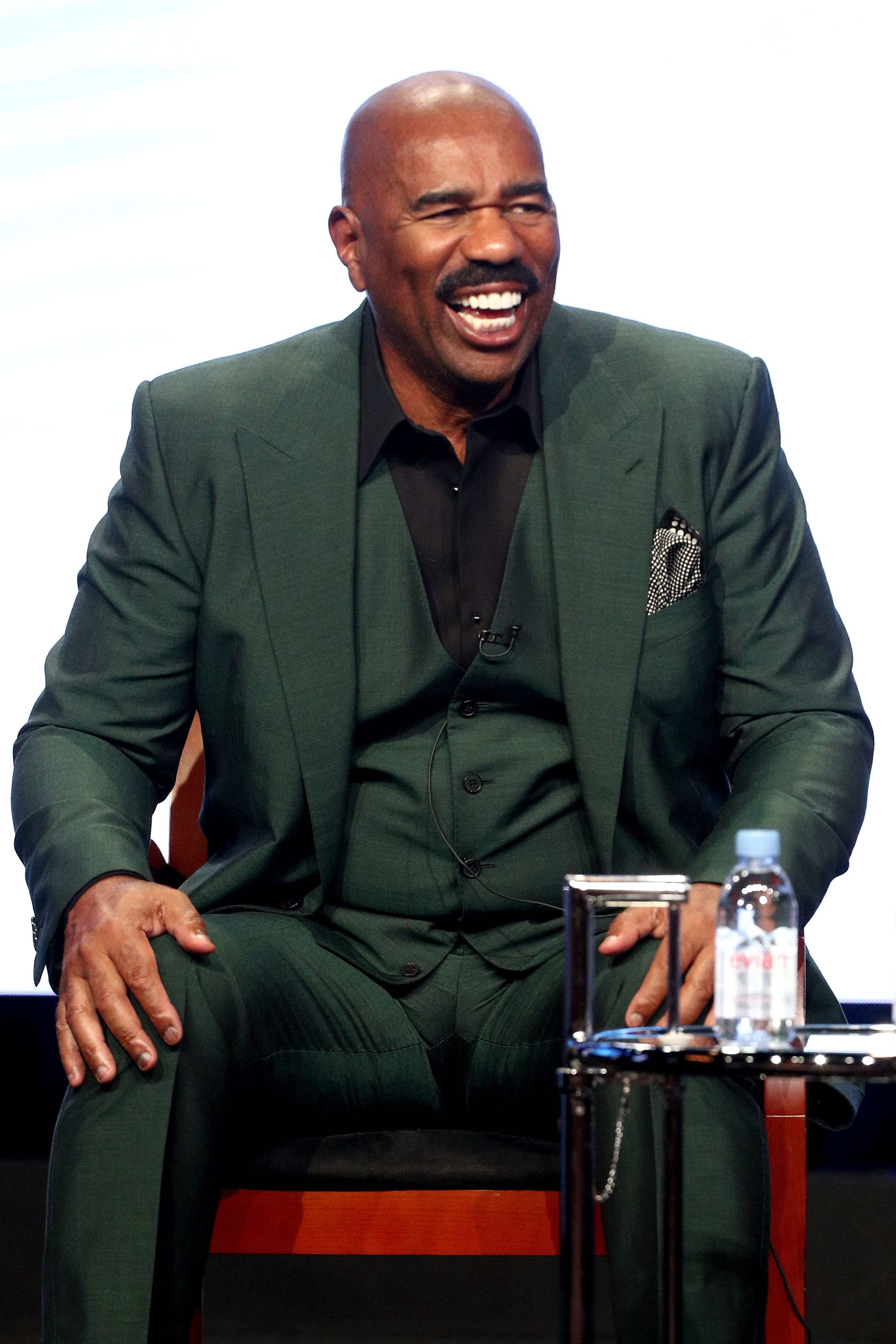 Steve Harvey onstage during the NBC Universal portion of the 2017 Summer Television Critics Association Press Tour on August 3, 2017 in Beverly Hills. | Photo: Getty Images