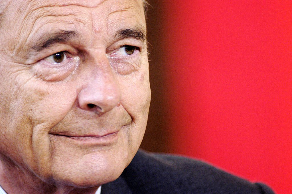 Jacques Chirac le 7 novembre 2002 à Rome en Italie. l Source : Getty Images