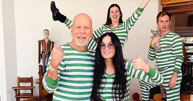 Bruce Willis Shaves Daughter Tallulah's Head While Quarantining with Ex Wife Demi Moore