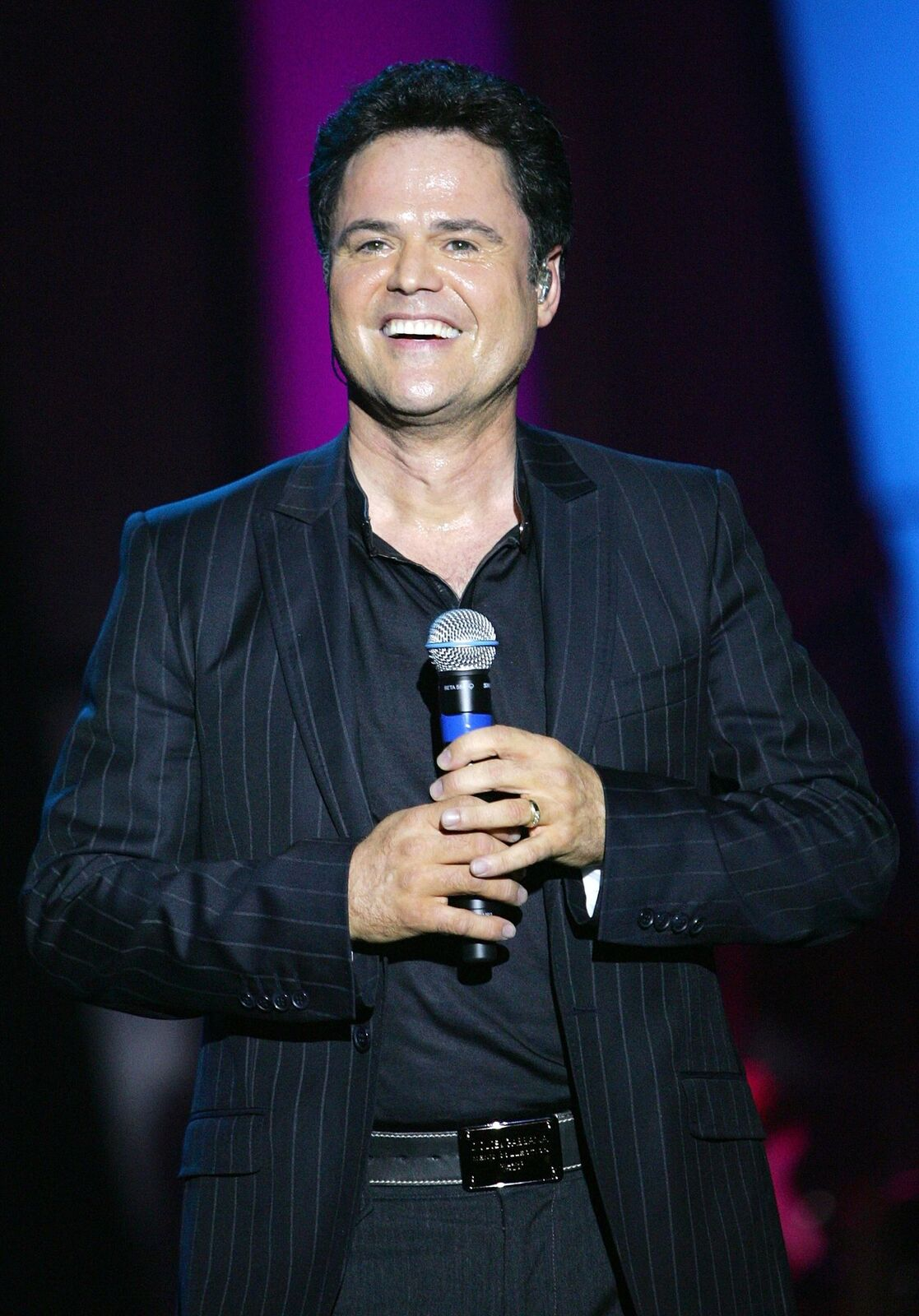 Donny Osmond performs at the Orleans Hotel & Casino on August 14, 2007, in Las Vegas, Nevada   Photo: Ethan Miller/Getty Images