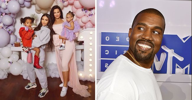Kim Kardashian & Daughter Chicago Look Cute Posing at Natalie Halcro Daughter's 1st B-Day Party