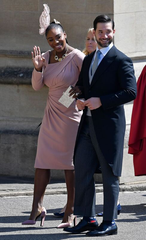 Alexis Ohanian and Serena Williams at the Royal Wedding of the Duke and Duchess of Sussex | Source: Getty Images/GlobalImagesUkraine